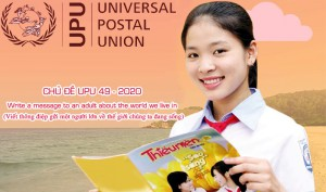 Chủ đề upu 49 năm 2020: Write a message to an adult about the world we live in